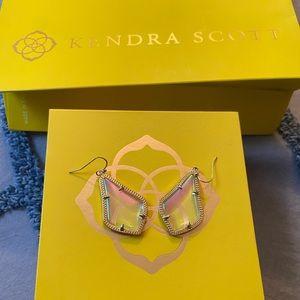 Kendra Scott Drop Earrings (Iridescent)